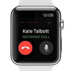 Apple Watch Llamada Entrante